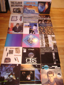 Lot de 100 Vinyles 80s NEW WAVE pour $50
