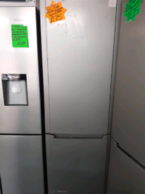 Silver fridge freezer