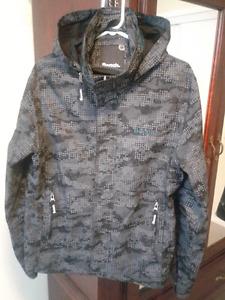 Like new men's blue/black/gray BENCH hooded jacket.