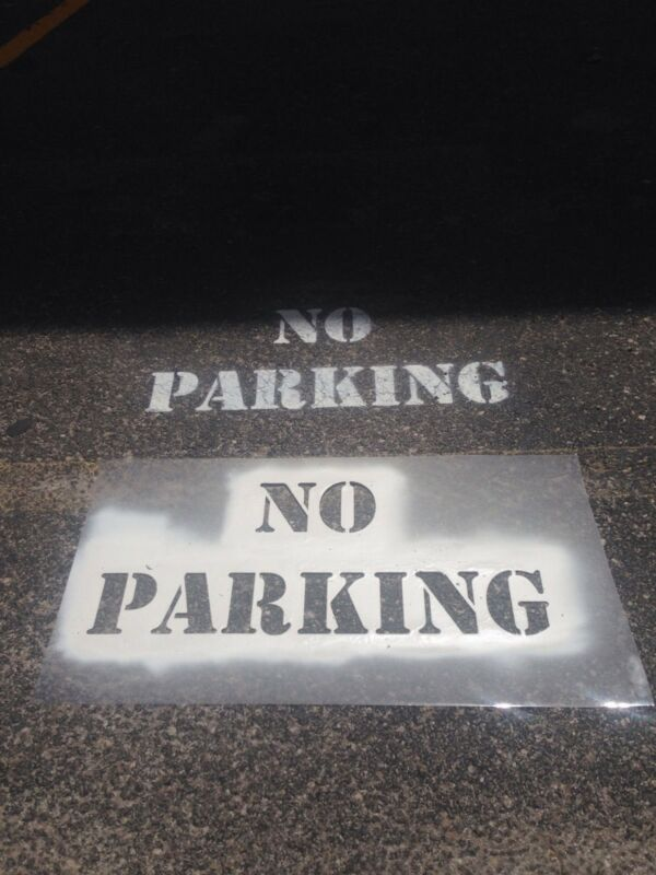 "4"" LETTERS  NO PARKING stencil - NEW - Reusable Pattern"