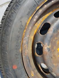 Brand new Bridgestone tyre and wheel