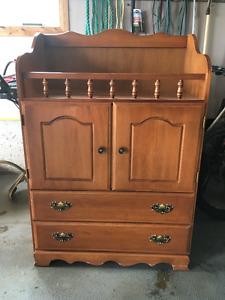 Solid Maple Change Table/Dresser ($100 obo)