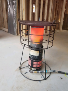 Natural gas construction heater