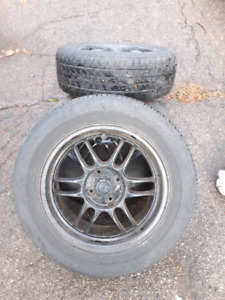 "15"" Honda 4x100 rims. tires not good."
