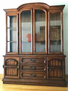 2 pieces of vintage cabinet/ buffet/cupboard