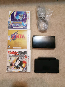 Original Cosmo Black 3DS with 4GB SD card and games