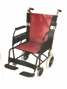 EZee Life Aluminum Transfer/Transport Chair | Wheelchair 18""