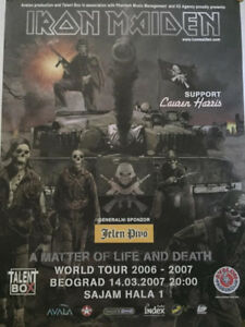 Huge IRON MAIDEN tour poster