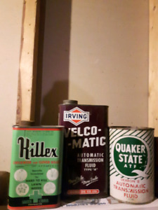vintage cans, irving, quaker state