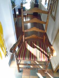 Ladder back chair.