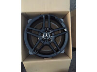 "ORGINAL GENUINE MERCEDES BENZ 2016 18"" AMG BLACK EDITION ALLOYS- C CLASS E CLASS COUPE"