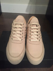 Brand New Filling Pieces Low Top Sneaker, Feathers Beige