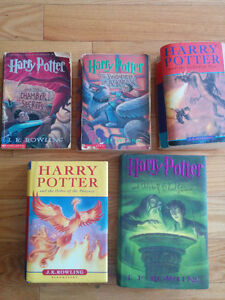 harry potter 2nd ,3rd,4th in paper cover and 5th and 6th hard c