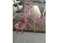 Pink little girls candle lamp