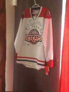 100% authentic Ice Caps Jersey signed by whole team