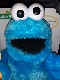 Brand new in the box still sesame street big blue cookie monster