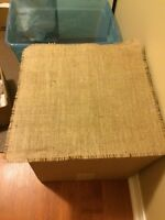 Burlap tables squares and runners