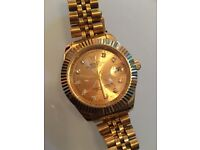 Rolex oyster just date gold