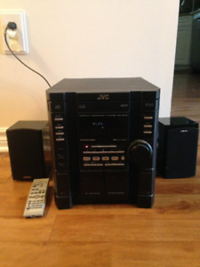 dual cassette and multiple CD stereo system