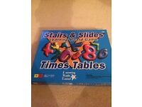 Stairs and slides learning board game, times table
