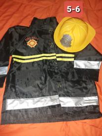 Fireman dress up costome Halloween Character roll 5-6 year