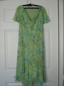 Pretty Green and Blue Dress