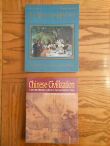 Chinese Civilization and Western Heritage two book lot