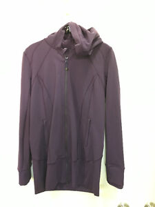 lululemon Purple Jacket with Hood Size 12 - Excellent Condition
