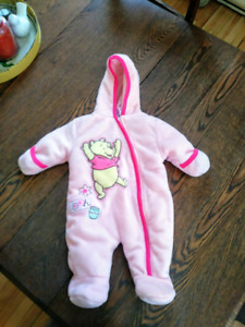 Whinnie the pooh girls soft snowsuit