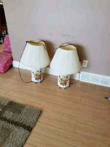 Lamp and shades