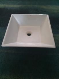 Square Ceramic Counter top bathroom sink