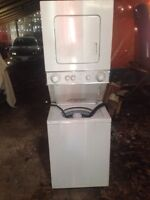 Apartment size combination washer and dryer