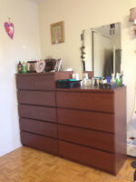 2 IKEA Chest of Drawers + 2 IKEA Night Tables + IKEA Wall Mirror