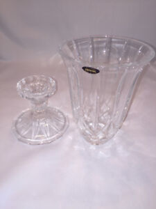 Beautiful Crystal candle holder great for indoor and outdoor use