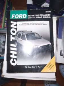 Chiltons  manaul for Ford Escape
