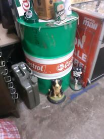 Full size castrol drum barrel mancave