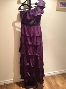 One Shoulder BCBG MaxAzria Gown - Beautiful for graduation!