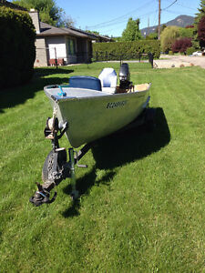 14' Princecraft aluminum boat on trailer with 25hp Merc