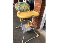 Graco tea time yellow high chair