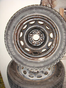 6  - 1995 Volkswagen Golf Steel rims with tires With 1extra tire