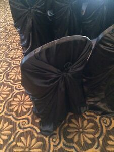 60 black chair covers
