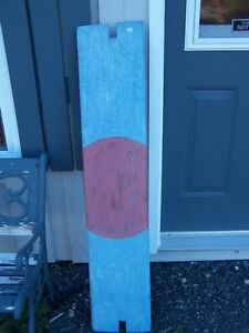 PAINTED WOOD BOAT SEAT / OR NAUTICAL SHELF