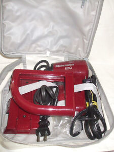 Compact travel 2 speed 1250 hair dryer with iron and bag