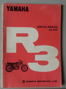 1970 Yamaha R3 R3C Service Manual 350cc