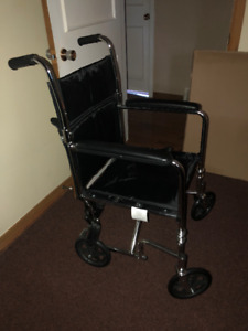 19 inch -  Transport Wheelchair- Almost New!