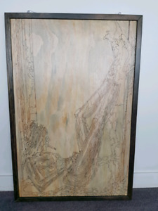 *Best Offer* Modern Pyrography Figure Model Framed Art ~ Custom