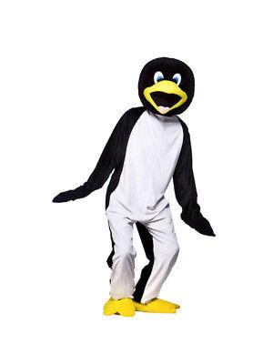 Cool Costums (Adult Cool Penguin Fancy Dress Mascot Costume Animal Zoo Bird Antarctic BN)