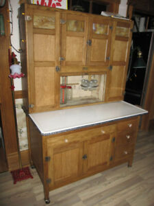 LARGE 4 DOOR SELLERS HOOSIER CABINET CUPBOARD LOADED