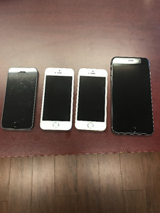 6 iPhones and a Samsung