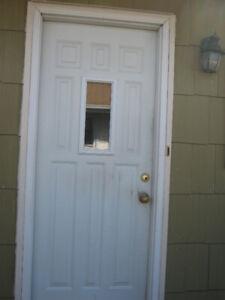 Outside steel door
